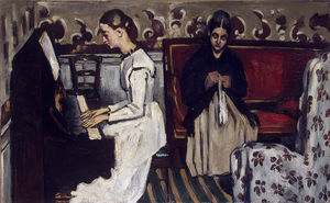 Paul Cezanne - Girl at the piano, ca Eremitaget