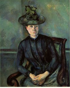 Paul Cezanne - Woman green hat
