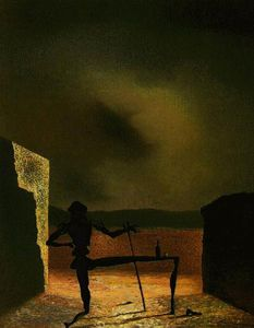 Salvador Dali - Dalí the ghost of vermeer of delft,1934,