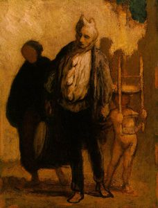 Honoré Daumier - Wandering saltimbanques, c. Oil on wood, - (32)