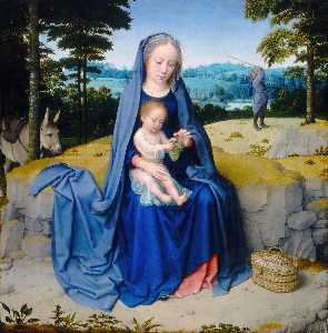 Gerard David - The Rest on the Flight into Egypt,