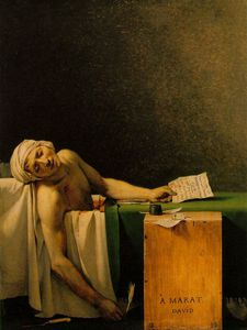 Jacques Louis David - Death of Marat, Musees Royaux des Beaux-Ar