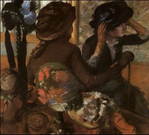 Edgar Degas - At the Milliner's, c.
