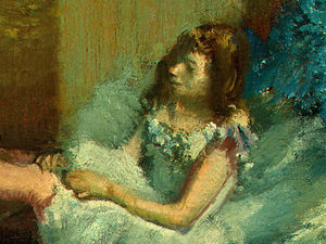 Edgar Degas - Before the Ballet, detalj 4, NG Washington
