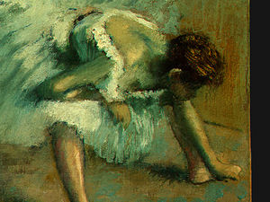 Edgar Degas - Before the Ballet, detalj 5, NG Washington
