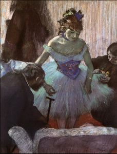 Edgar Degas - Before the Entrance on Stage, c.