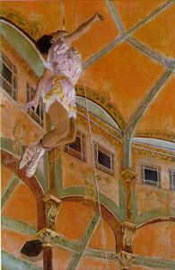 Edgar Degas - Miss Lola, au Cirque Fernando, NG L - (paintings reproductions)