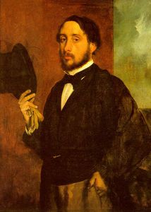 Edgar Degas - Self-Portrait, approx. oil on canvas, Museu Calo