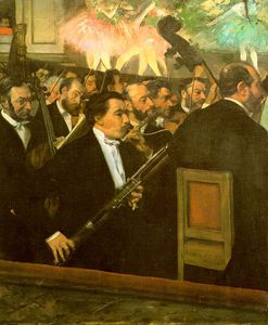 Edgar Degas - The Orchestra of the Opéra, approx. oil on canva