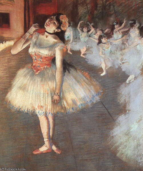 The Star, pastel on paper, The Art Institute, 1881 by Edgar Degas (1834-1917, France)