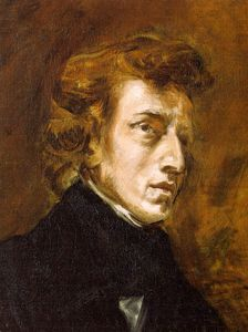 Order Museum Quality Reproductions : Portrait of Frédéric Chopin (unfinished) by Eugène Delacroix (1798-1863, France) | WahooArt.com