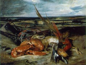 Eugène Delacroix - Still Life with Lobsters, 80.5x106.5, Lou