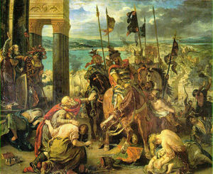 Eugène Delacroix - The Crusaders' Arrival at Constantinople,