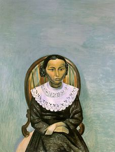 André Derain - Portrait of a Young Girl in Black, oil on canva
