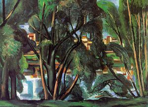 André Derain - Trees on the Banks of the Seine, Staatsgalerie,