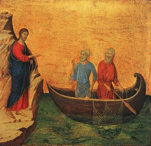 Duccio Di Buoninsegna - The Calling of the Apostles Peter and Andrew, -