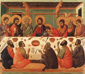 Duccio Di Buoninsegna - The Last Supper, Museo dell'Opera del Duomo, Siena.