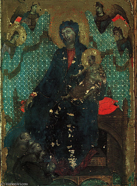 The Madonna of the Franciscans, 1287-88, panel painti by Duccio Di Buoninsegna (1255-1319, Italy)