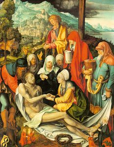 Albert Dürer Lucas - Lamentation over the Dead Christ