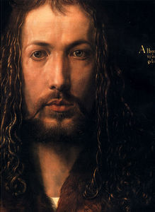 Albert Dürer Lucas - Self portrait detail face