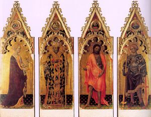 Gentile Da Fabriano - Four Saints of the Quaratesi Polyptych,