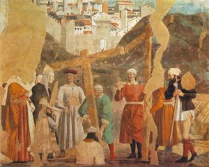 Piero Della Francesca - The Arezzo Cycle - Discovery of the True Cross (detail) [03]