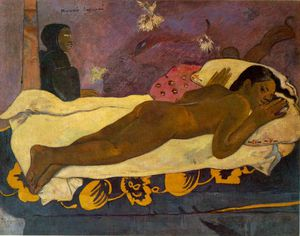 Order Painting Copy : Spirit of the dead watching, Alb, 1892 by Paul Gauguin (1848-1903, France) | WahooArt.com