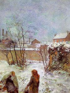 Paul Gauguin - The Garden in Winter, rue Carcel, oil on canva