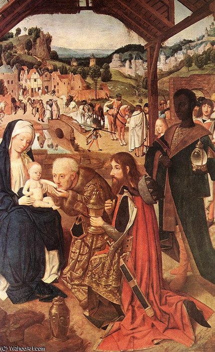 Order Famous Paintings Reproductions : Adoration of the magi, 148-85, Národn by Geertgen Tot Sint Jans (1460-1490, Netherlands) | WahooArt.com