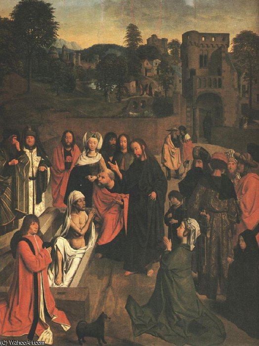 The Raising of Lazarus, Louvre by Geertgen Tot Sint Jans (1460-1490, Netherlands)