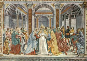 Domenico Ghirlandaio - Marriage of the virgin, s.maria novella, florenc