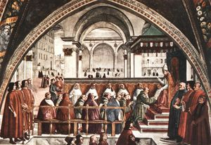 Domenico Ghirlandaio - Confirmation of the rule, cappella sassetti, s.t