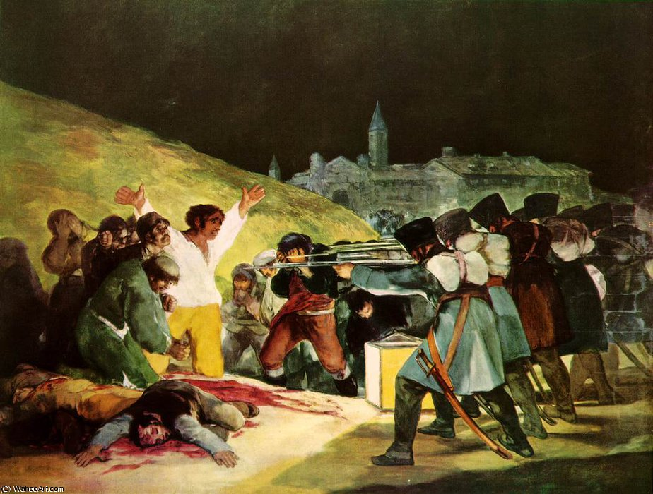 The Shootings of May Third Prado, 1814 by Francisco De Goya (1746-1828, Spain)