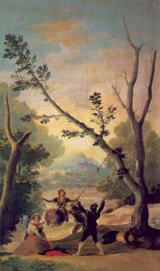 Francisco De Goya - The swing, Duke of Montellano Collect
