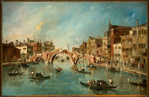 Francesco Lazzaro Guardi - View on the Cannaregio Canal, Venice, c.