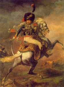 Jean-Louis André Théodore Géricault - An Officer of the Imperial Horse Guards Charging,