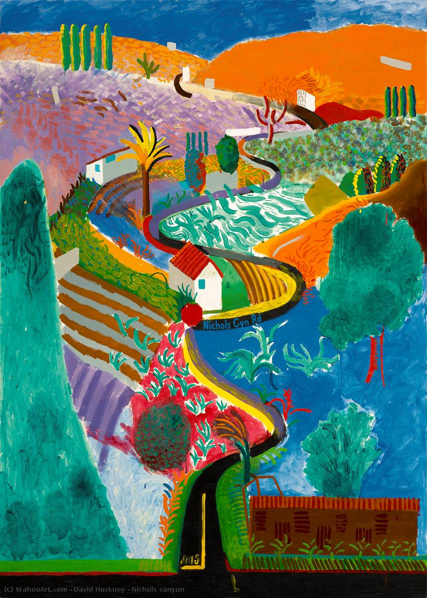 Nichols canyon by David Hockney |  | WahooArt.com