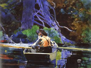 Winslow Homer - The Andirondak Guide, watercolor over graphite,
