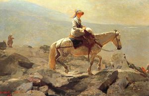 Winslow Homer - The Bridle Path, White Mountains, oil on canvas,