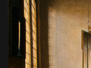 Pieter De Hooch - The bedroom, detalj 4, ngw