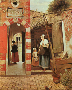 Pieter De Hooch - The courtyard of a house in delft,ng london