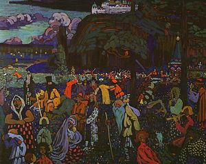 Wassily Kandinsky - Colorful Life, tempera on canvas, Lenbachhau