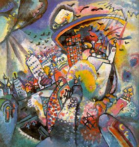 Wassily Kandinsky - Moscow I, oil on canvas, State Tretjakov Gal