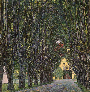 Gustav Klimt - Avenue in Schloss Kammer Park, oil on canvas, Ös