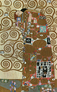Gustav Klimt - Fulfillment, mixed media with silver and gold
