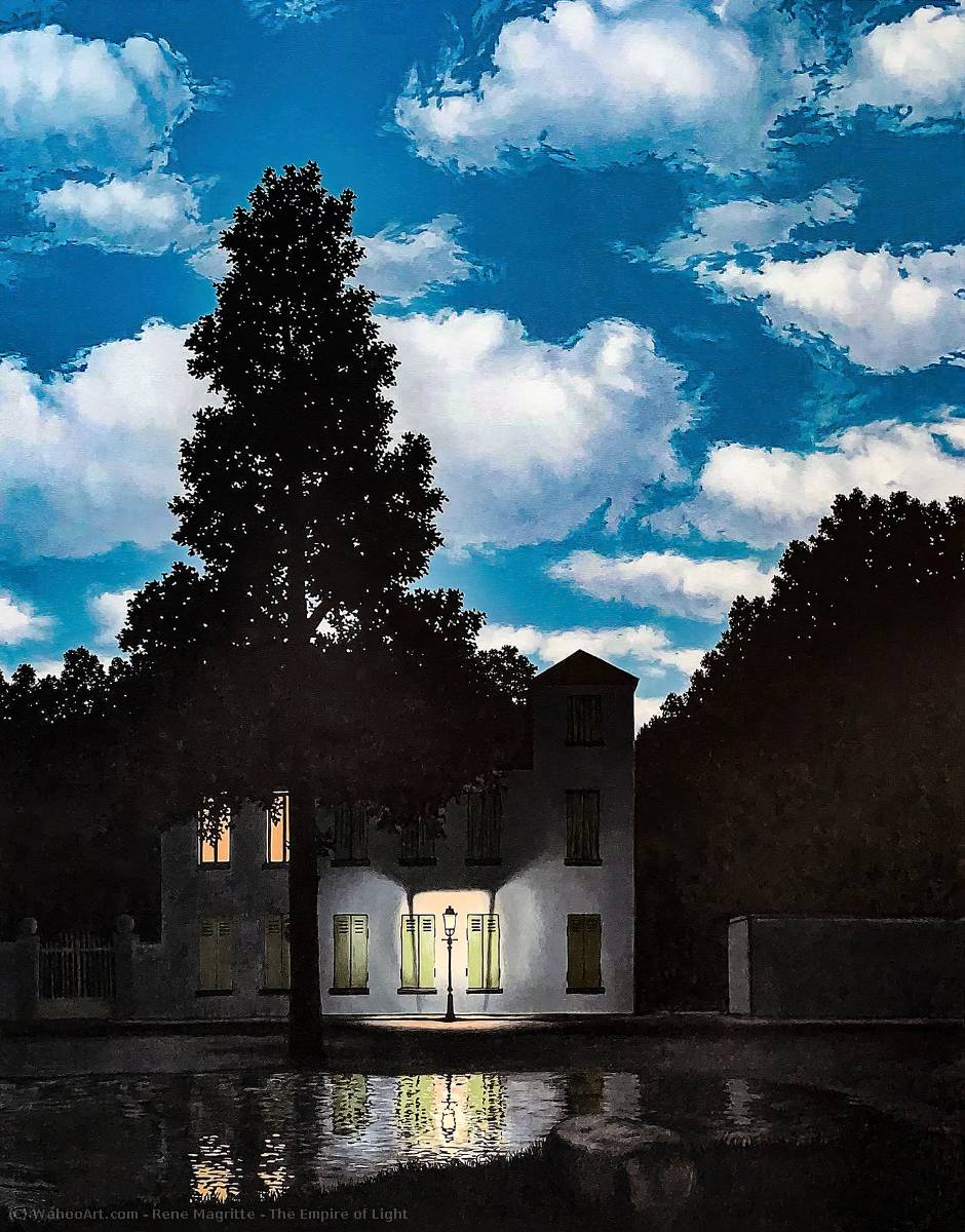 The Empire of Light by Rene Magritte (1898-1967, Belgium) | Oil Painting | WahooArt.com
