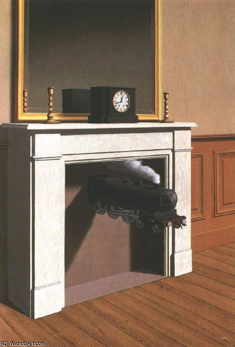 Time transfixed,1938, art institute of chicago by Rene Magritte (1898-1967, Belgium)