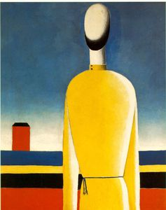 Kazimir Severinovich Malevich - Complex Presentiment - Half-Figure in a Yellow Shir