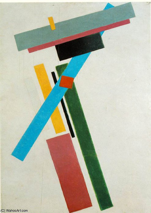 suprematism state russian museum, st. petersb, 1915 by Kazimir Severinovich Malevich (1878-1935, Ukraine) | Famous Paintings Reproductions | WahooArt.com