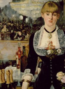 Edouard Manet - A bar at Folies-Bergeres, (Detalj 1) 96x130 c